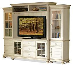 Riverside Furniture 4-Pc Entertainment Center in Honeysuckle
