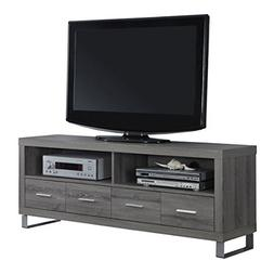 """60"""" Entertainment Center TV Stand with 4 Drawers, Dark Taupe"""