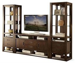 Riverside Furniture 3-Pc Entertainment Center in Warm Walnut