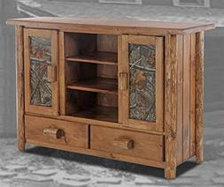 Charlemont Flatscreen TV Stand with Drawers and Camo Doors