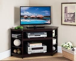 Kings Brand Furniture Cherry Finish Wood Corner TV Stand Ent