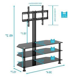 FITUEYES Classic Clear Tempered Glass TV Stand Suit