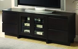 Coaster Home Furnishings 2-Door TV Console Cappuccino