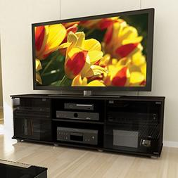 Contemporary TV Stands for Flat Screens Open Compartments Sh