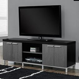 Contemporary TV Stands for Flat Screens Black Gray Wooden En