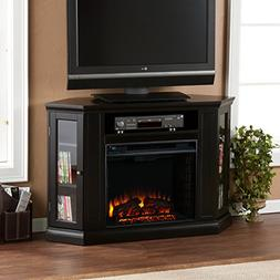 FurnitureMaxx Convertible Electric Fireplace with Cabinet, T