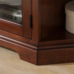"Leick Riley Holliday 46"" Corner TV Stand in Brown Cherry"