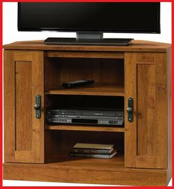 Corner TV Stand Flat Screen Entertainment Center Console Med