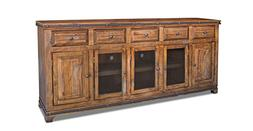 "Crafters and Weavers Rustic Reclaimed Solid Wood 82"" Console"