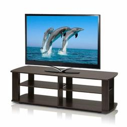 Dark Brown Tv Stand Media Entertainment Center Sturdy 42 50