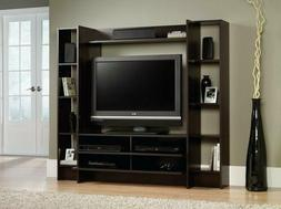 Dark Cherry Wooden TV Stand Console Wall Entertainment Cente