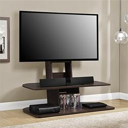 "TV Console Stands 65"" Dark Walnut Comfort Wood Furniture Sto"
