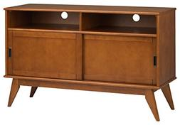 Simpli Home Draper Mid Century Tall TV Media Stand For TVs u