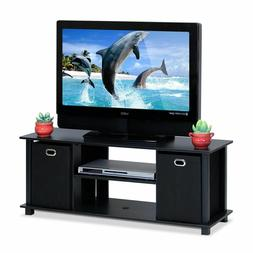 Furinno Econ Entertainment Center with Storage Bins, Multipl