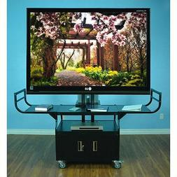 "Entertainment Center Large Flat Panel 80"" Monitor Cabinet Ca"