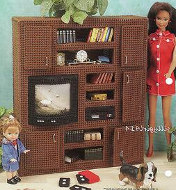 "ENTERTAINMENT CENTER""~Plastic Canvas PATTERN ONLY for BARBIE"