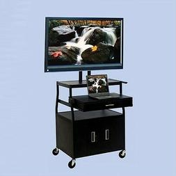 "Entertainment Center Wide Body 52"" Flat Panel TV Cart with F"