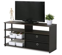Entertainment Center Wood Media TV Stand Console Storage Cab