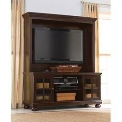 "Espresso 52"" TV Stand Wooden Home Entertainment Center Media"