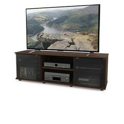 fiji urban maple tv bench for tvs up to 64 in. | brown sonax