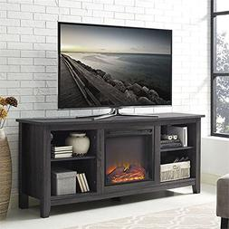 """Walker Edison Furniture Company 58"""" Fireplace TV Stand in Ch"""