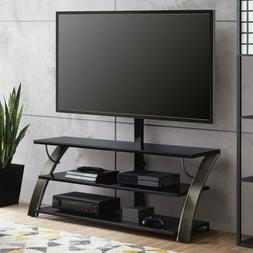 Flat Panel 3-in-1 TV Stand w/ Mount Entertainment Housing Fu