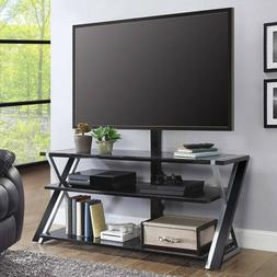 "Flat Screen TV Stand 70"" Metal Glass 3 in 1 Entertainment Ce"