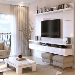 """Floating Entertainment Center Fits TVs Up to 70"""" Panel White"""