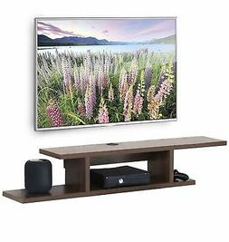 floating wall mount media console entertainment center