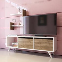 "Decorotika Fly 47"" TV Stand and Media Center with Accent Wal"
