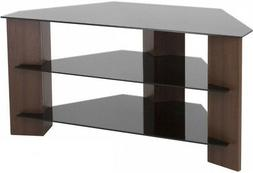 AVF FS900VARWB-A Varano Corner TV Stand, Walnut and Black Gl