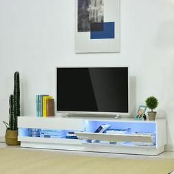 "71"" High Gloss LED TV Cabinet Stand Entertainment Center Sto"