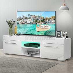 "51"" High Gloss LED TV Stand Cabinet White Modern Entertainme"