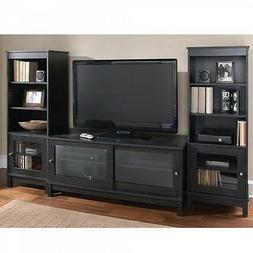 Home Entertainment Center TV Stand Shelves Wood Media Consol