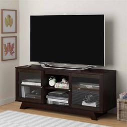 "Home Englewood TV Stand for TVs up to 55"", 2 Glass Doors, 3"