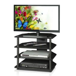 Home Entertainment System Center Small Tv Stand Shelves Medi