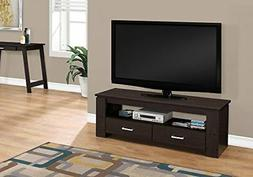 Monarch Specialties I 2600 TV Stand-48 L 2 Storage Drawers,
