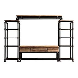 HOMES: Inside + Out IDF-5913-4PC Michigan TV Stand Set