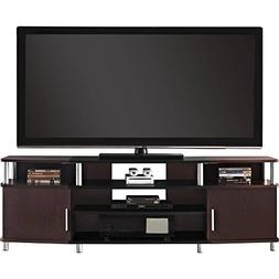 Indoor Carson XL Black and Cherry TV Stand Entertainment Cen