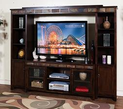 Sunny Designs K3464DC Santa Fe Entertainment Wall with Bridg