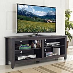 Kissemoji Tall TV Media Stand Wood TV Stand for TVs up to 60