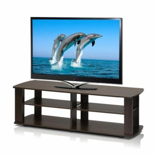 Furinno TV - Up Support Load Capacity Panel - 43.3 Width 13.1 Depth - Brown - Particleboard,