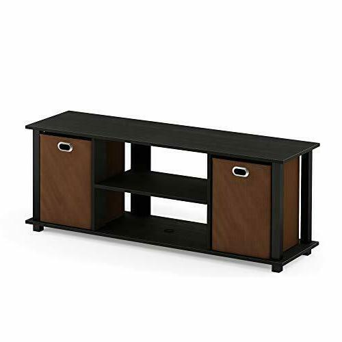 Furinno 13054BK/BK Econ Entertainment Center with Storage  A