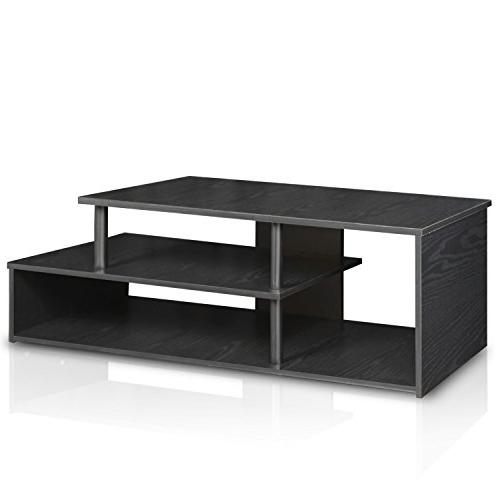 Furinno 15044BW/BK Econ Low Rise TV Stand Blackwood
