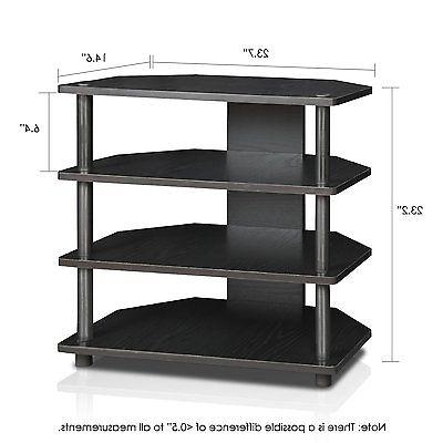 FURINNO 15093BW/BK Assembly 3-Tier Petite Stand, Blackwood