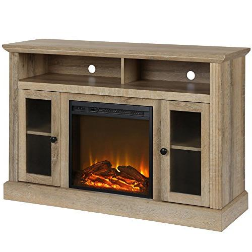 1764196com chicago fireplace tv stand
