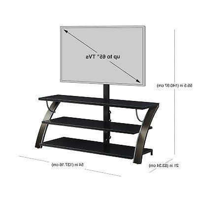 3-in-1 Stand Media Unit Table Up 65