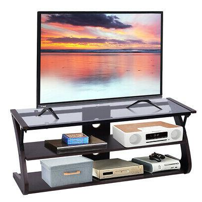 3 tier tempered glass tv