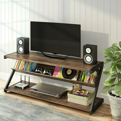 3-Tier TV Entertainment with Z-Shaped Frame