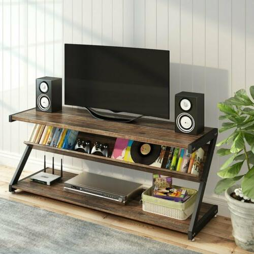 3-Tier Stand 59''Large Entertainment Z-Shaped